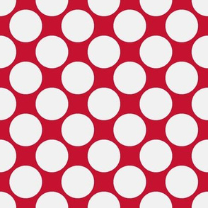 Circus Polk-White on red