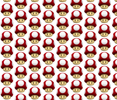 mario-mushroom fabric by comatosegrl on Spoonflower - custom fabric