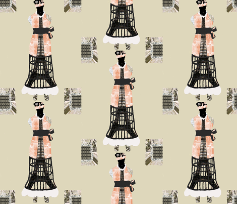 Dress Form Eiffel Tower fabric by karenharveycox on Spoonflower - custom fabric