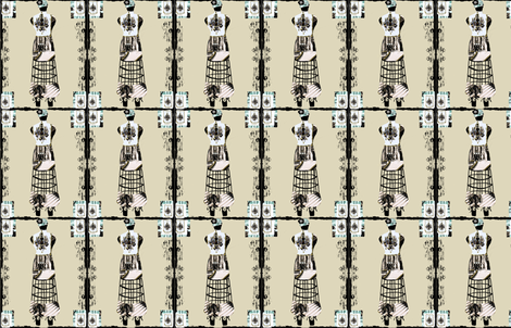 Dress Form Chateau fabric by karenharveycox on Spoonflower - custom fabric