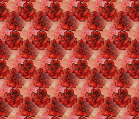 Roses are Red fabric by reistrangelove on Spoonflower - custom fabric