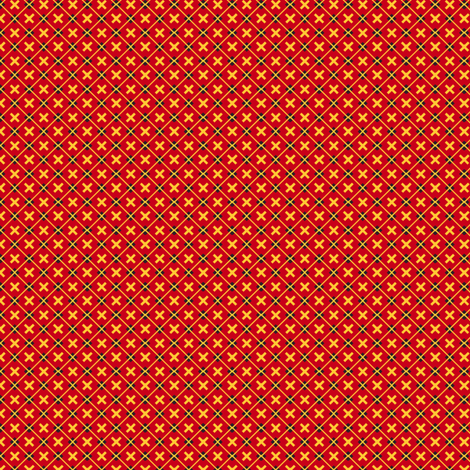 Tartan Cross Red fabric by siya on Spoonflower - custom fabric