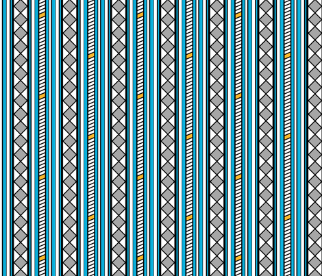 Stepladder and Diamonds Blue fabric by siya on Spoonflower - custom fabric