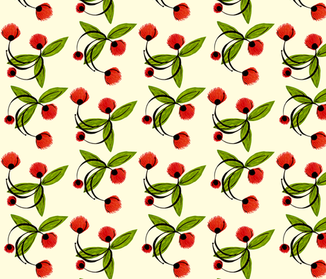Dancing_Blossoms_A_O_HalfDrop fabric by cksstudio80 on Spoonflower - custom fabric