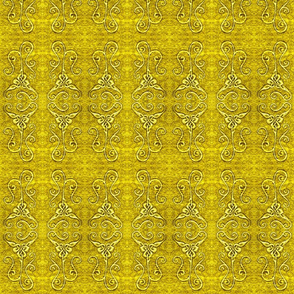 loopy gold knot tile