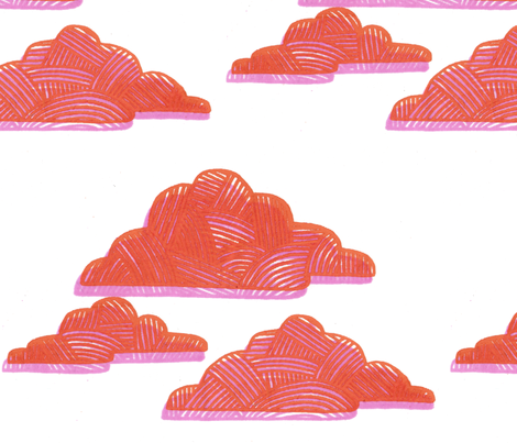 clouds at sunset fabric by leonielovesyou on Spoonflower - custom fabric