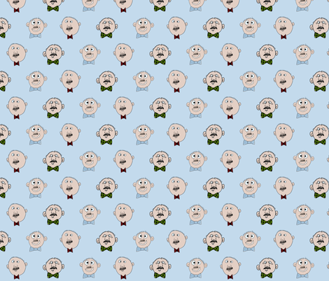 Bow Tie Bobs in Mustaches fabric by mayabella on Spoonflower - custom fabric