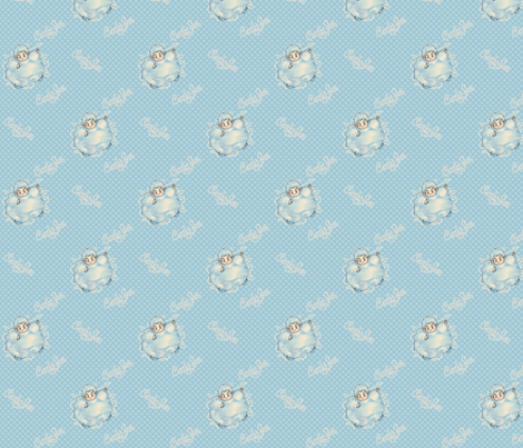 Candy Floss - Blue fabric by siya on Spoonflower - custom fabric