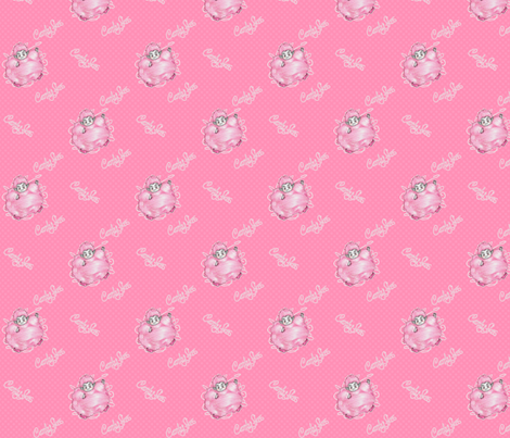 Candy Floss - Pink fabric by siya on Spoonflower - custom fabric