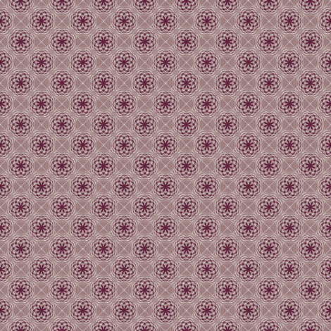 Flower Bubbles Cola fabric by kristopherk on Spoonflower - custom fabric