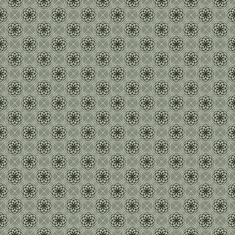 Flower Bubbles Mint fabric by kristopherk on Spoonflower - custom fabric