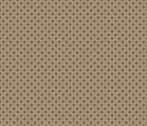 Flower Bubbles Sepia fabric by kristopherk on Spoonflower - custom fabric