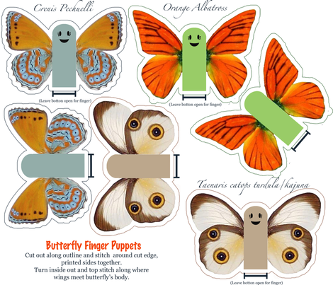Butterfly Fingers fabric by jumping_monkeys on Spoonflower - custom fabric