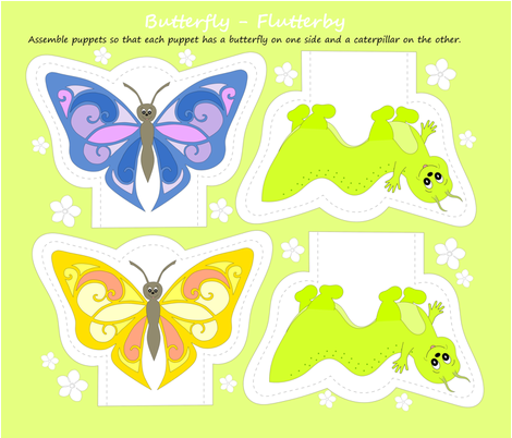 butterfly-flutterby puppets fabric by ali_c on Spoonflower - custom fabric