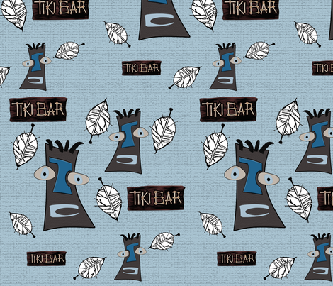 Tiki Bar fabric by poetryqn on Spoonflower - custom fabric