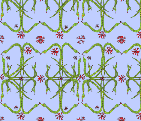 snakes_and_tongues3_repeat_attempt fabric by cht222 on Spoonflower - custom fabric