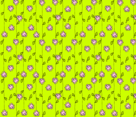 Pig Plant fabric by cht222 on Spoonflower - custom fabric