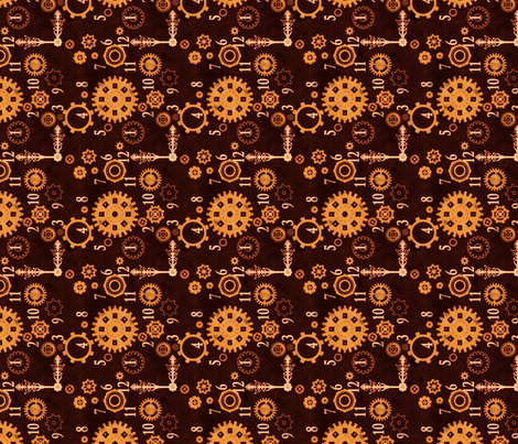 Clockwork 2 B fabric by jadegordon on Spoonflower - custom fabric
