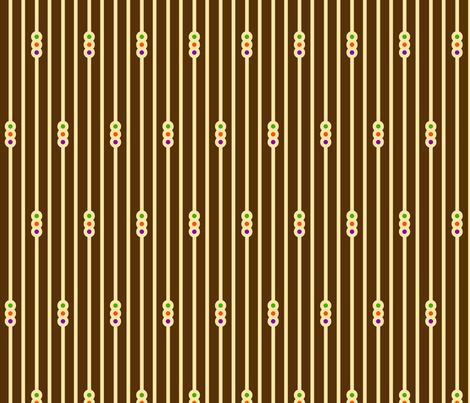 Triple Circle Stripes on Chocolate fabric by siya on Spoonflower - custom fabric