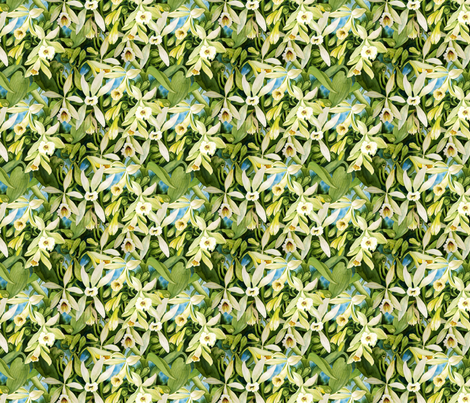 Vanilla Orchid fabric by helenklebesadel on Spoonflower - custom fabric