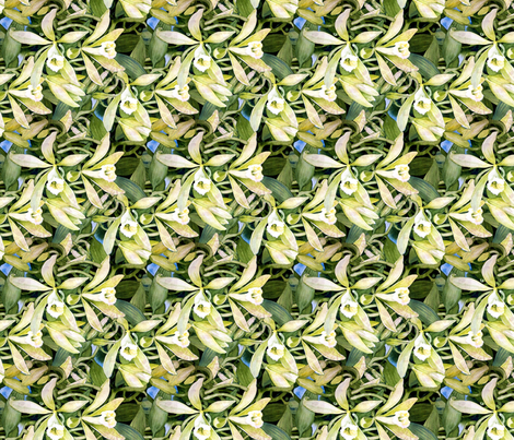 Vanilla Orchid Too fabric by helenklebesadel on Spoonflower - custom fabric