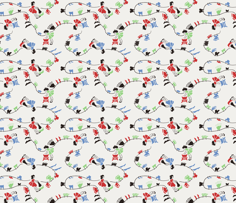 Fifties Wash Day fabric by shirlene on Spoonflower - custom fabric