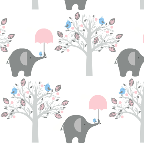 happy chat friends / pink fabric by paragonstudios on Spoonflower - custom fabric