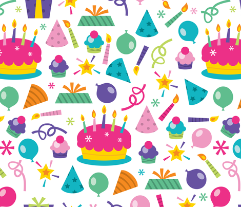 Let's Party Pattern fabric by totallyjamie on Spoonflower - custom fabric