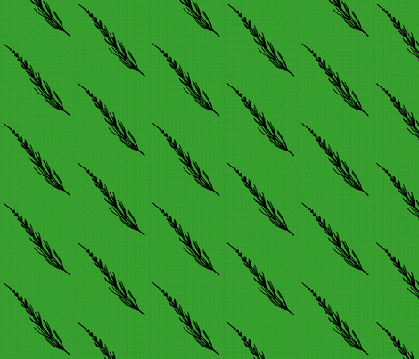 Club Fern Silhouette on Green fabric by siya on Spoonflower - custom fabric
