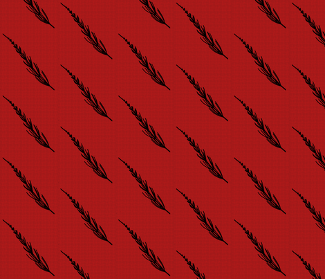 Club Fern Silhouette on Red fabric by siya on Spoonflower - custom fabric