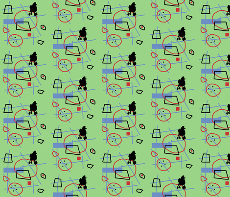 Retro Poodle fabric by captiveinflorida on Spoonflower - custom fabric