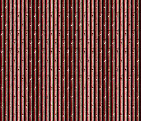 Heartbeat Stripes fabric by siya on Spoonflower - custom fabric