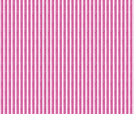 Heartbeat Stripes Pink fabric by siya on Spoonflower - custom fabric