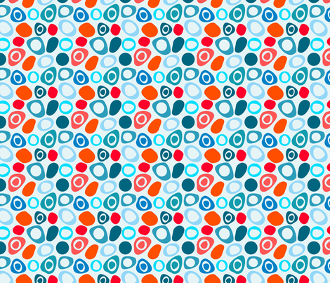 Mod Pebbles fabric by carinaenvoldsenharris on Spoonflower - custom fabric