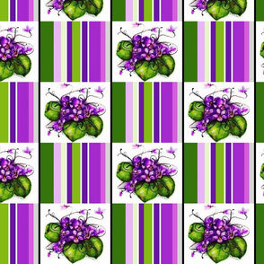 Violet / Check Lg
