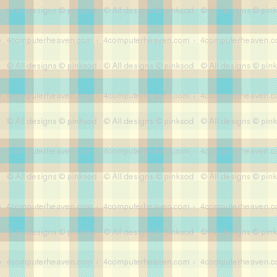 Sweet Folk Garden - Aquaberry Tartan Mini 2 - © PinkSodaPop 4ComputerHeaven.com