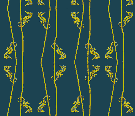 Seahorse Habitat fabric by kdl on Spoonflower - custom fabric