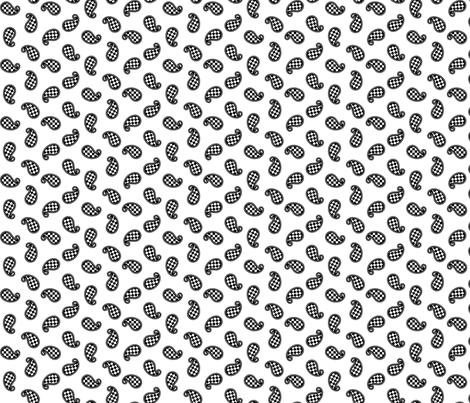 Paisley Check on White - Small fabric by siya on Spoonflower - custom fabric