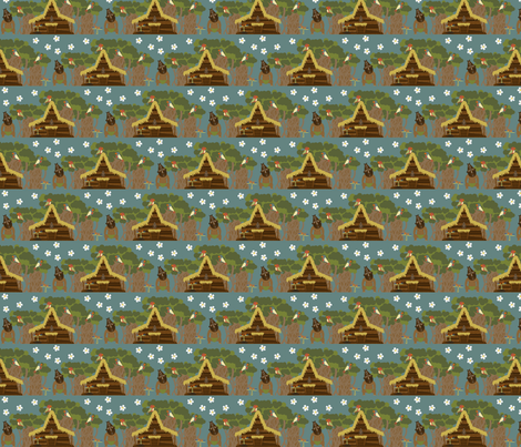 Yumi! Yumi! Yumi! fabric by mayabella on Spoonflower - custom fabric