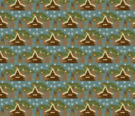 Tiki Tiki Tiki Tiki Scene- Small fabric by mayabella on Spoonflower - custom fabric