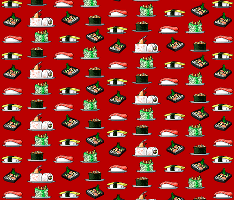 Sushi fabric by jadegordon on Spoonflower - custom fabric