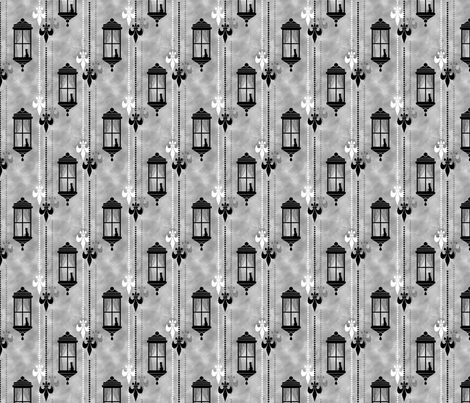 Rainy Fleurs - Argent fabric by siya on Spoonflower - custom fabric