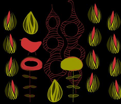 Bird Stalk fabric by sbd on Spoonflower - custom fabric