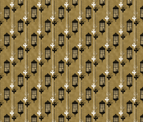 Rainy Fleurs - Brun fabric by siya on Spoonflower - custom fabric