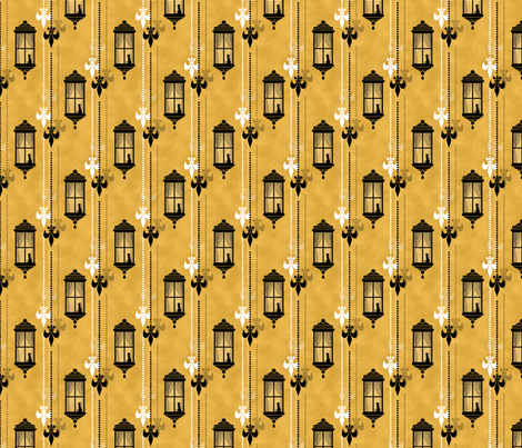 Rainy Fleurs - Jaune fabric by siya on Spoonflower - custom fabric