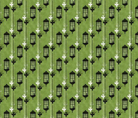 Rainy Fleurs - Olive fabric by siya on Spoonflower - custom fabric