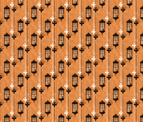 Rainy Fleurs - Orange fabric by siya on Spoonflower - custom fabric