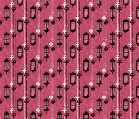 Rainy Fleurs - Framboise fabric by siya on Spoonflower - custom fabric