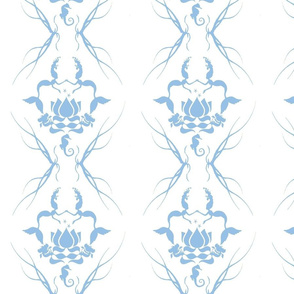 water damask blue