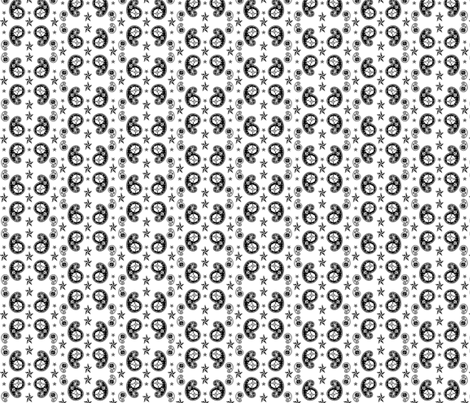 atomic skull paisley fabric by tpenndragon on Spoonflower - custom fabric